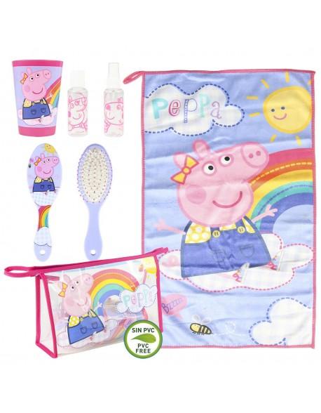 Peppa Pig Set de comedor, Neceser aseo personal, viaje