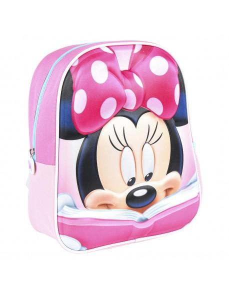 Minnie Mouse Mochila infantil personaje con relieve de goma 3D