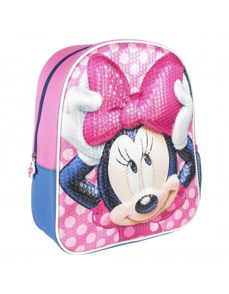Minnie Mouse Mochila infantil personaje con lentejuelas
