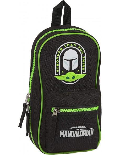 The Mandalorian Plumier mochila 4 estuches llenos, 33 piezas, escolar