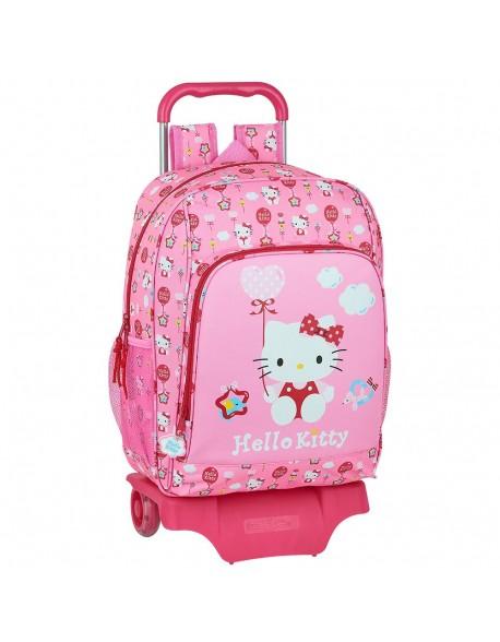 Hello Kitty Balloon Mochila grande ruedas, carro, trolley