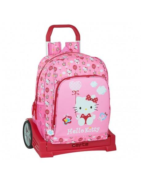 Hello Kitty Balloon Mochila con carro ruedas Evolution, Trolley
