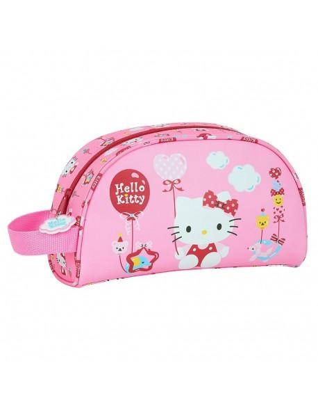 Hello Kitty Balloon Neceser, bolsa de aseo adaptable a carro