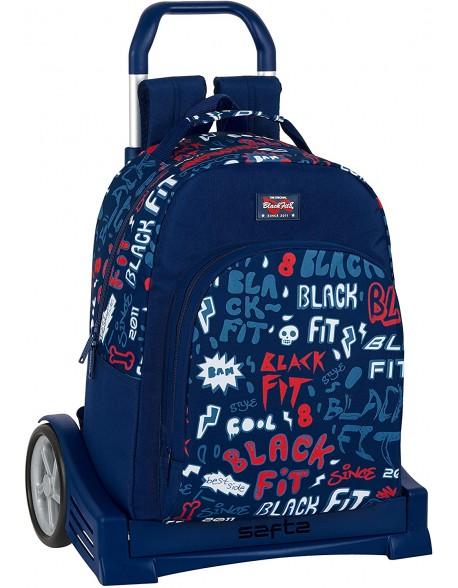 Blackfit8 Letters Mochila con carro ruedas Evolution, Trolley