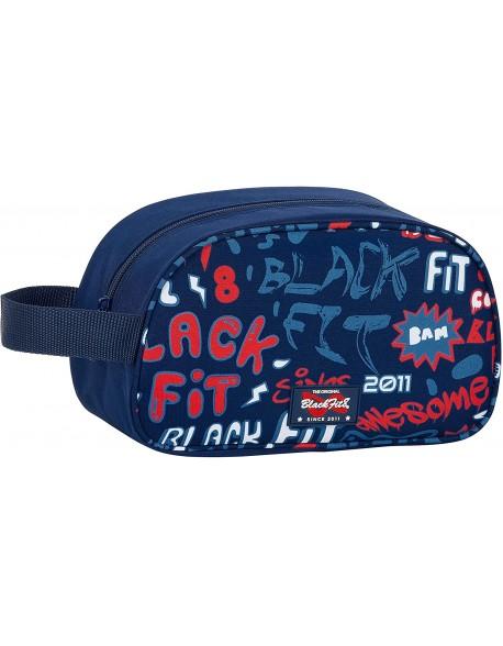 Blackfit8 Letters Neceser, bolsa de aseo adaptable a carro