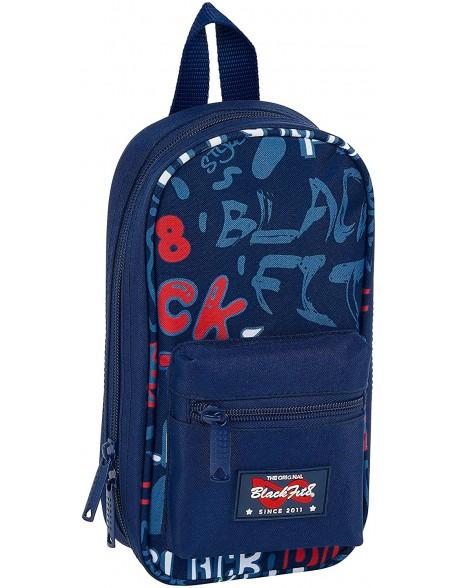 Blackfit8 Letters Plumier mochila 4 estuches llenos, 33 piezas, escolar