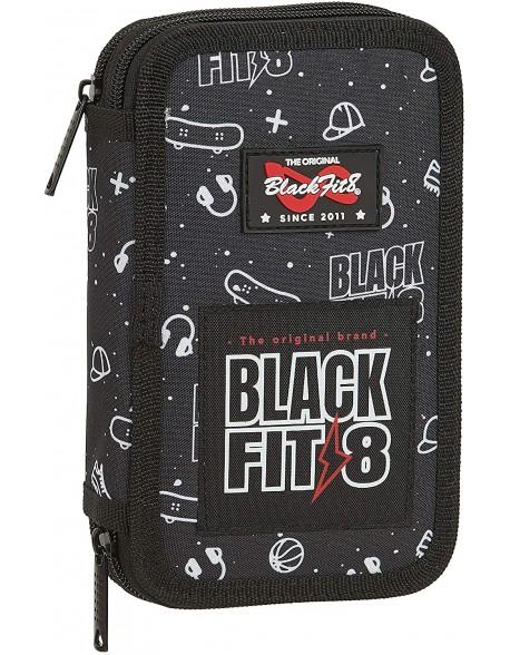 Blackfit8 Sport Galaxy Plumier doble, estuche con 28 piezas