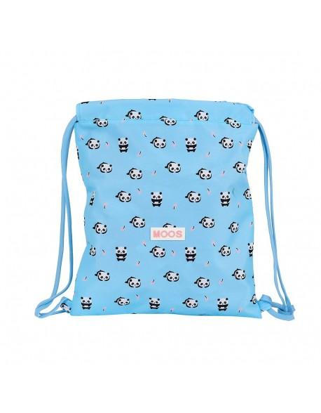 Moos Panda Saco mochila plano cuerdas 35 x 40 cm