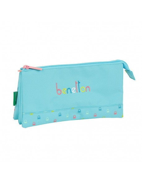 UCB Benetton Candy Estuche portatodo triple escolar