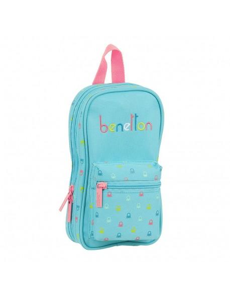 UCB Benetton Candy Plumier mochila 4 estuches llenos, 33 piezas, escolar
