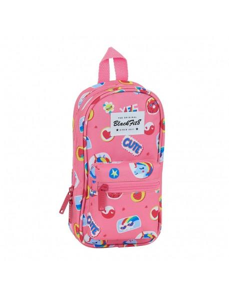 Blackfit8 Cute Plumier mochila 4 estuches llenos, 33 piezas, escolar