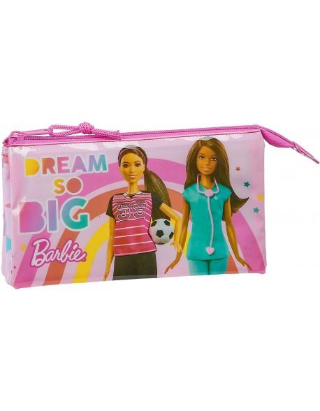Barbie Dreamer Estuche portatodo triple escolar