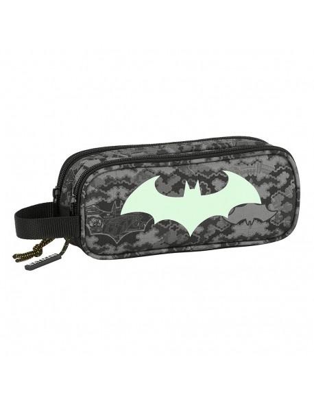 Batman Night Estuche portatodo doble 2 cremalleras escolar
