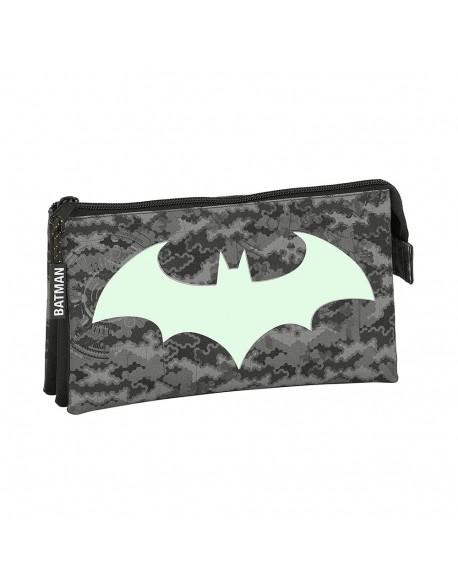 Batman Night Estuche portatodo triple escolar