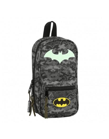 Batman Night Plumier mochila 4 estuches llenos, 33 piezas, escolar