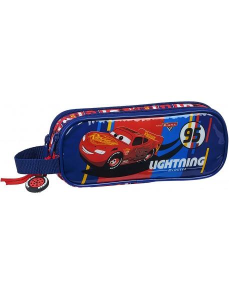 Cars Racing Block Estuche portatodo doble 2 cremalleras escolar