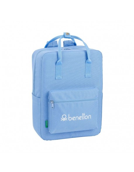 UCB Benetton Light Blue Mochila casual con asas