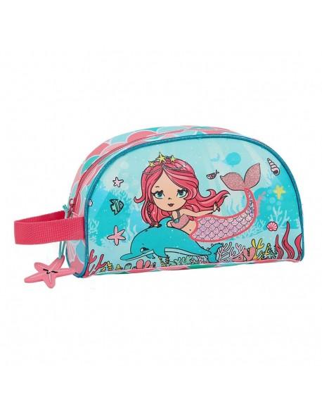 Glowlab Kids Sirena Neceser, bolsa de aseo adaptable a carro