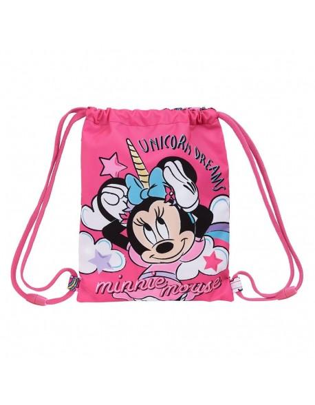 Minnie Mouse Unicorns Saco mochila plano cuerdas 26 x 34 cm