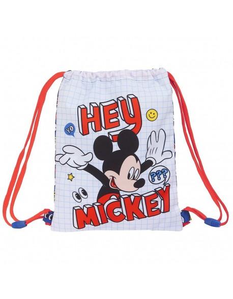 Mickey Mouse Things Saco mochila plano cuerdas 26 x 34 cm