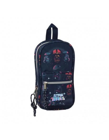 Star Wars Death Star Plumier mochila 4 estuches llenos, 33 piezas, escolar