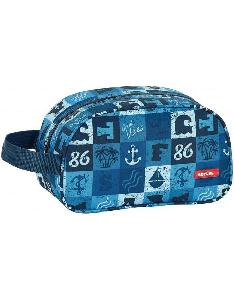 Safta Blue Vibes Neceser, bolsa de aseo adaptable a carro