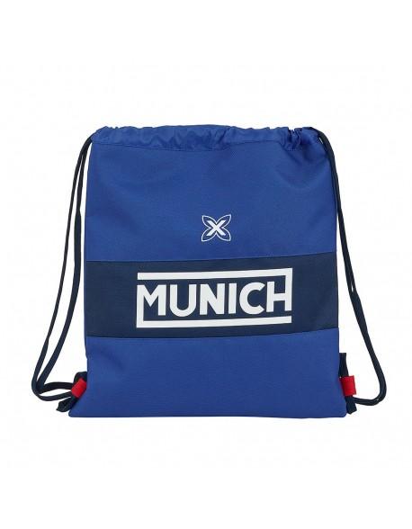 Munich Retro Saco mochila plano cuerdas 35 x 40 cm