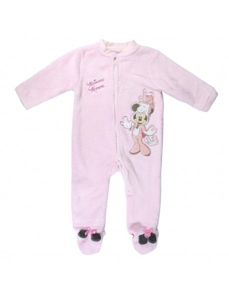 Minnie Mouse Pijama dormilón coral fleece bebé