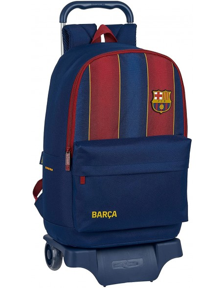 FC Barcelona 1ª Equip. 20/21 Mochila grande ruedas, carro, trolley