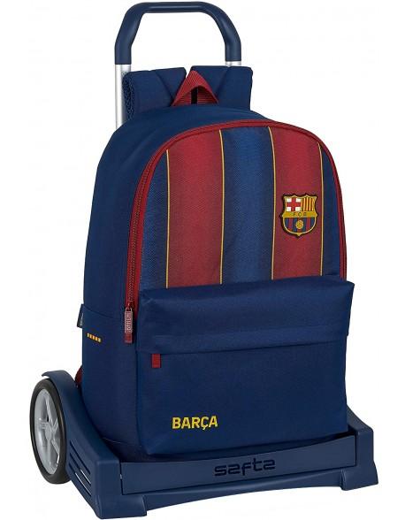 FC Barcelona 1ª Equip. 20/21 Mochila con carro ruedas Evolution, Trolley