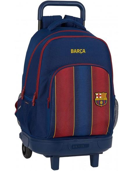 FC Barcelona 1ª Equip. 20/21 Mochila grande con ruedas carro, Trolley