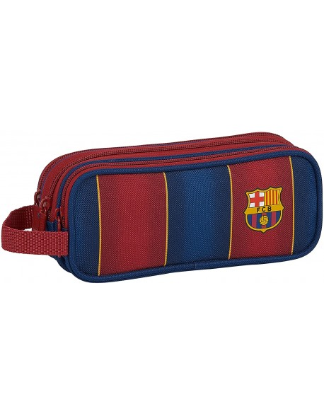 FC Barcelona 1ª Equip. 20/21 Estuche portatodo triple 3 cremalleras escolar