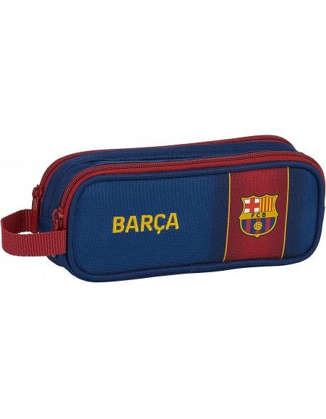 FC Barcelona 1ª Equip. 20/21 Estuche portatodo doble 2 cremalleras escolar