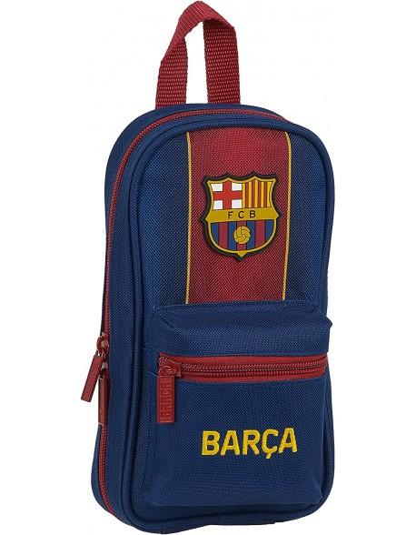 FC Barcelona 1ª Equip. 20/21 Plumier mochila 4 estuches llenos, 33 piezas, escolar