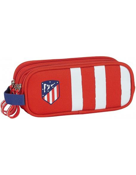 Atlético de Madrid 1ª Equip. 20/21 Estuche portatodo triple 3 cremalleras escolar