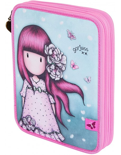 Santoro Gorjuss Sparkle & Bloom Plumier Doble Grande 46 Pcs. Cherry Blossom