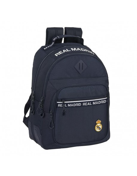 Real Madrid CF Mochila doble escolar con cantoneras adaptable a carro