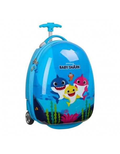 "Baby Shark Trolley Infantil 16"", maleta"