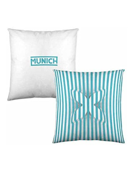 Munich Cojín reversible Pop Art Turquesa 100% algodón