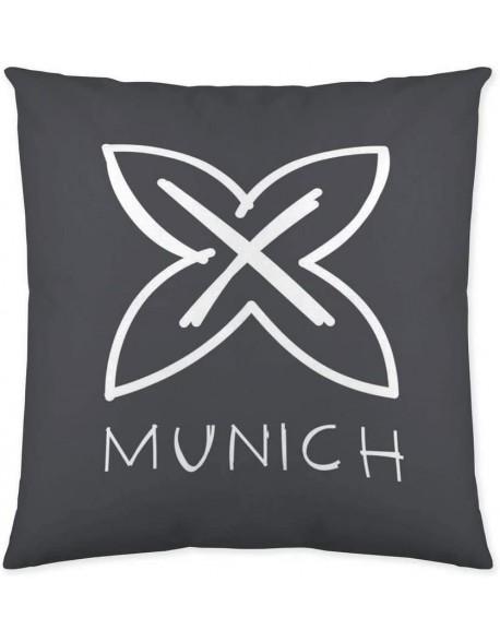 Munich Cojín reversible Kobe Grafito 100% algodón