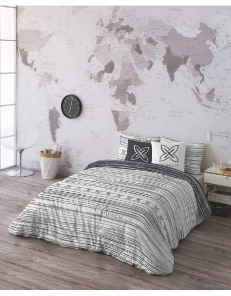 Munich Funda nórdica reversible Kobe Grafito 100% algodón