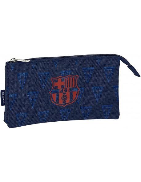 FC Barcelona Navy Estuche portatodo triple escolar