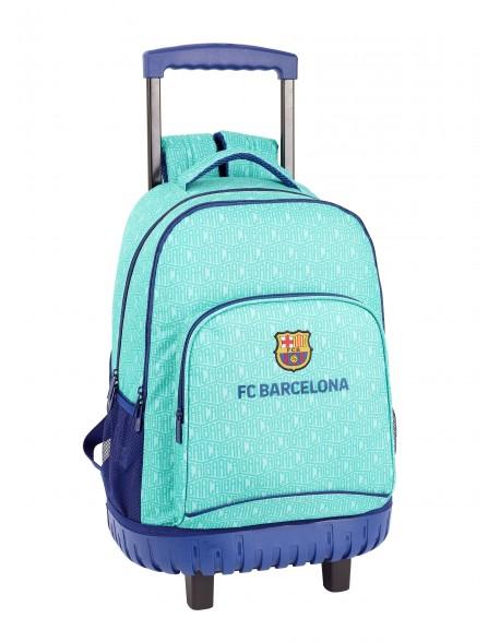 FC Barcelona Mochila grande con ruedas carro fijo, Trolley
