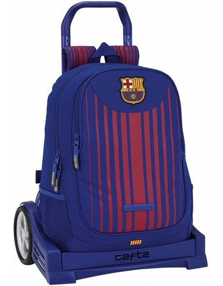 FC Barcelona Mochila con carro ruedas Evolution, Trolley