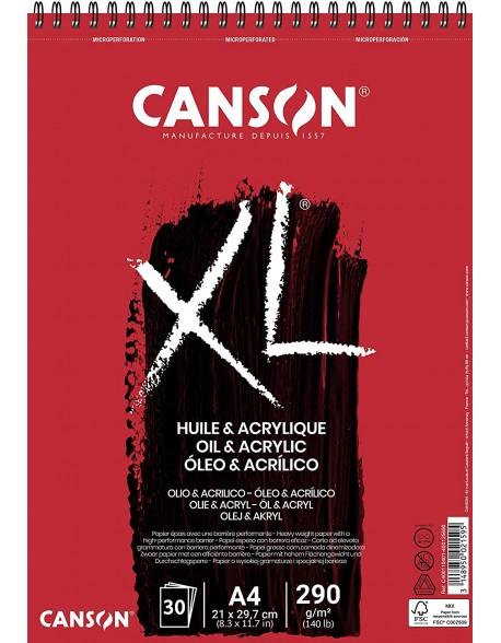 Canson XL Óleo & Acrílico, Album espiral, 30 Hojas,  290g
