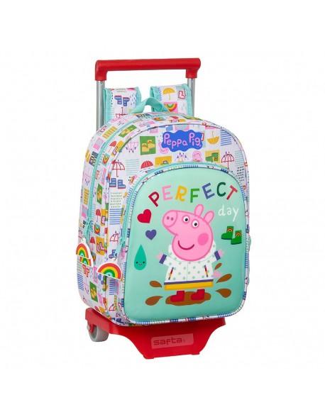 Peppa Pig Mochila pequeña ruedas, carro, trolley