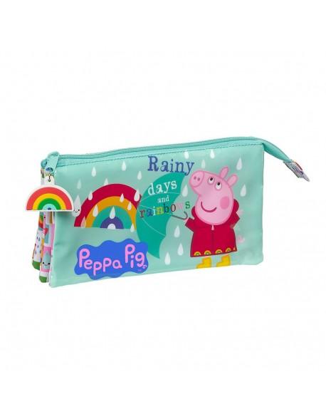 Peppa Pig Estuche portatodo triple escolar