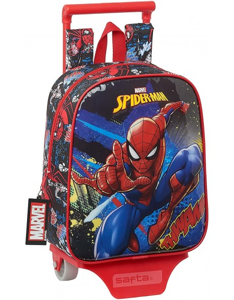 Spiderman Go Hero Mochila guardería ruedas, carro, trolley