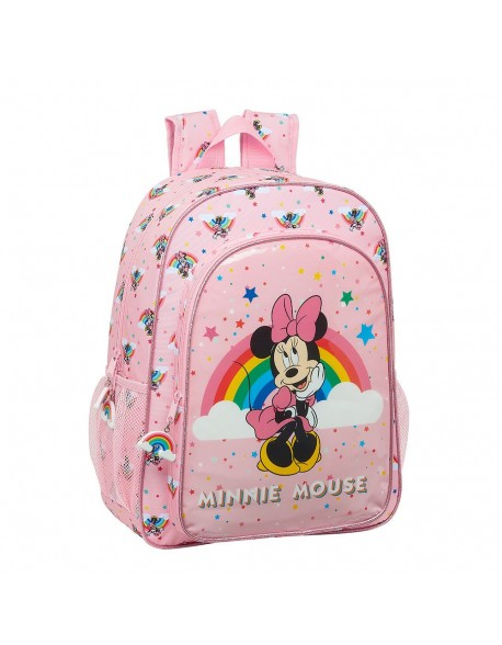 Minnie Mouse Rainbow Mochila grande adaptable a carro