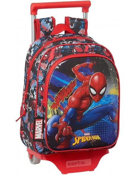 Spiderman Go Hero Mochila pequeña ruedas, carro, trolley